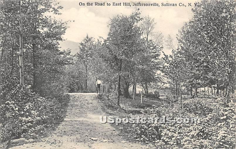 On the Road to East Hill - Youngsville, New York NY Postcard