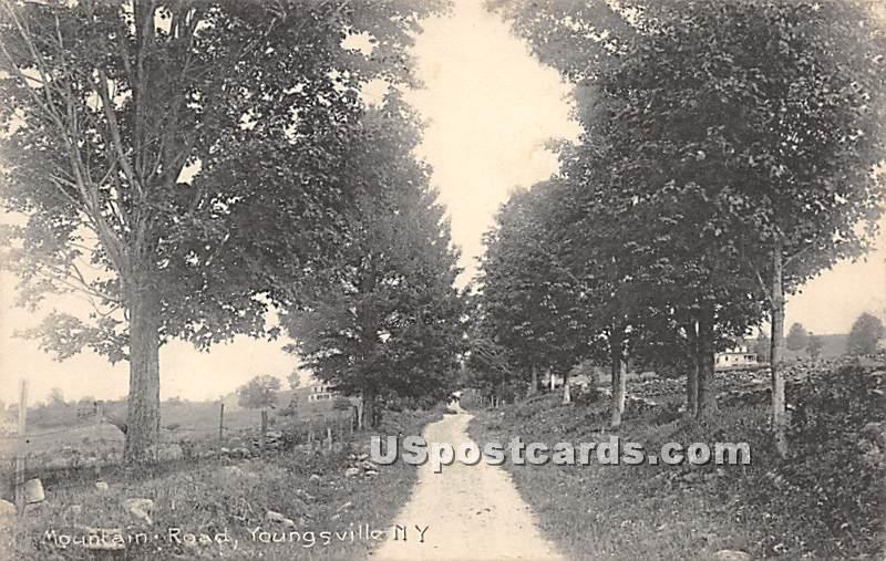 Mountain Road - Youngsville, New York NY Postcard