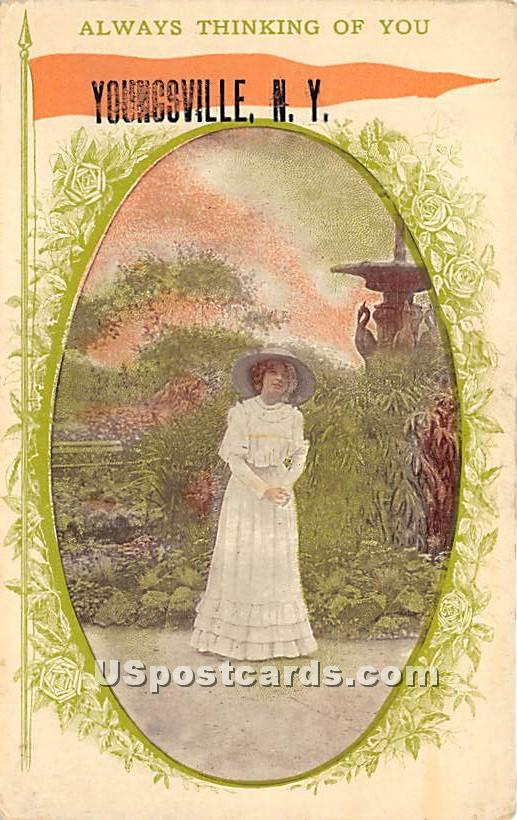 Always thinking of you - Youngsville, New York NY Postcard