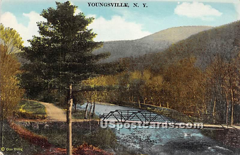 Bridge - Youngsville, New York NY Postcard