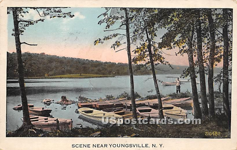 Shore Scene - Youngsville, New York NY Postcard