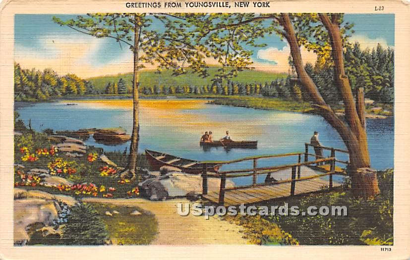 Greetings from - Youngsville, New York NY Postcard