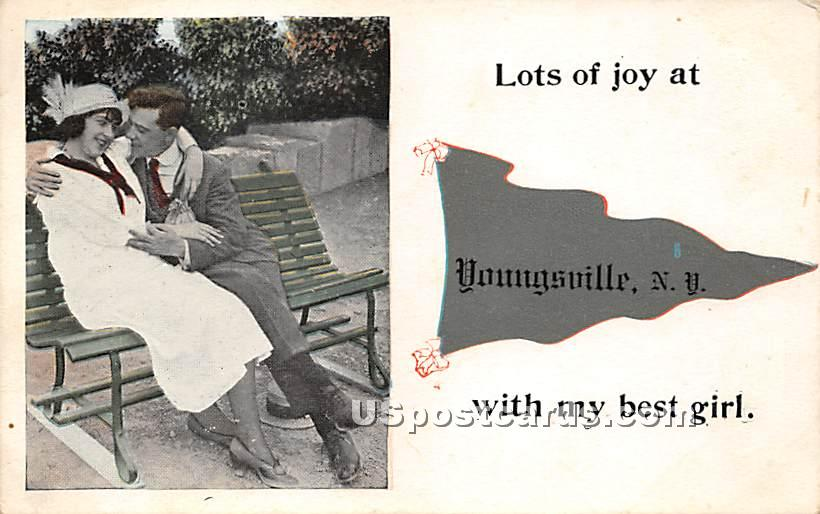 Lots of Joy - Youngsville, New York NY Postcard