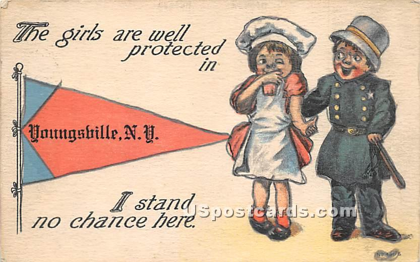 The Girls are well protected - Youngsville, New York NY Postcard