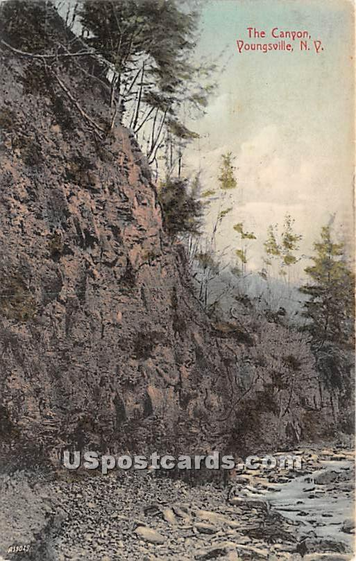 The Canyon - Youngsville, New York NY Postcard