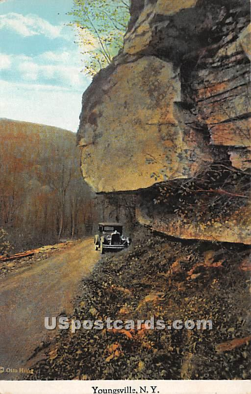 Road Scene - Youngsville, New York NY Postcard
