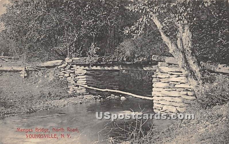 Menges Bridge - Youngsville, New York NY Postcard