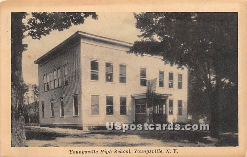 Youngsville High School - New York NY Postcard