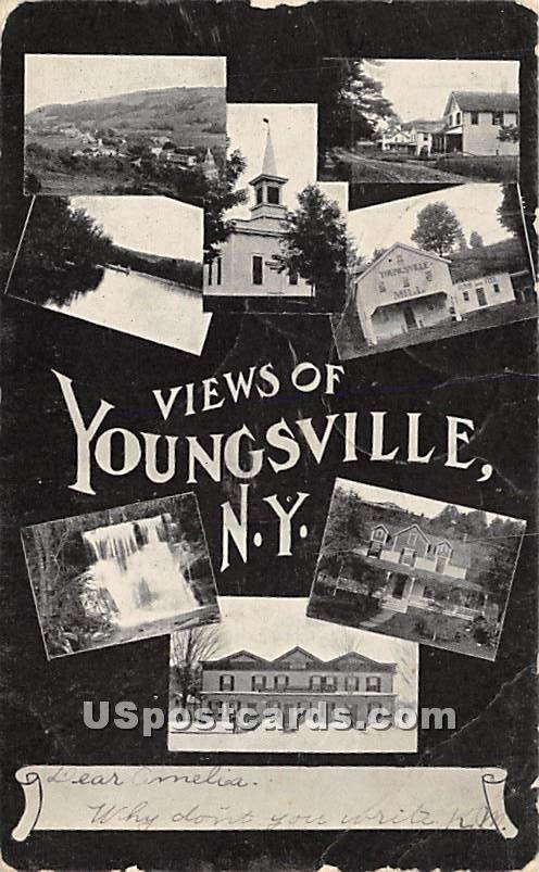 Views of Youngsville - New York NY Postcard