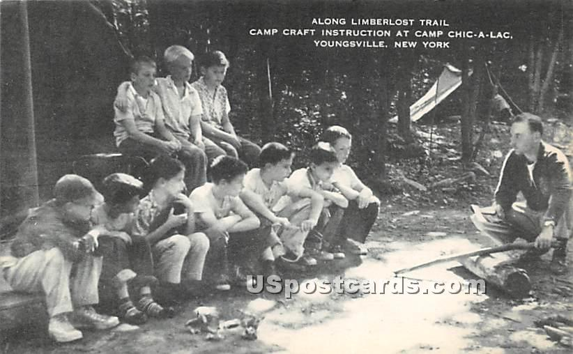 Along Limberlost Trail - Youngsville, New York NY Postcard