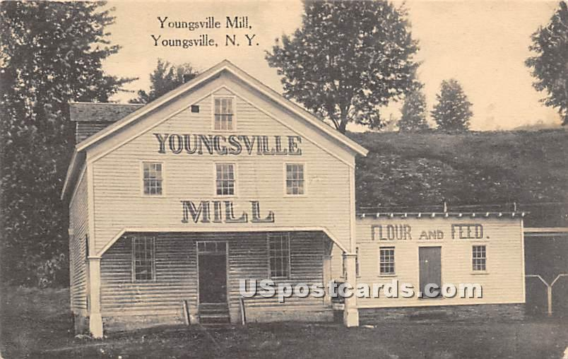 Youngsville Mill - New York NY Postcard