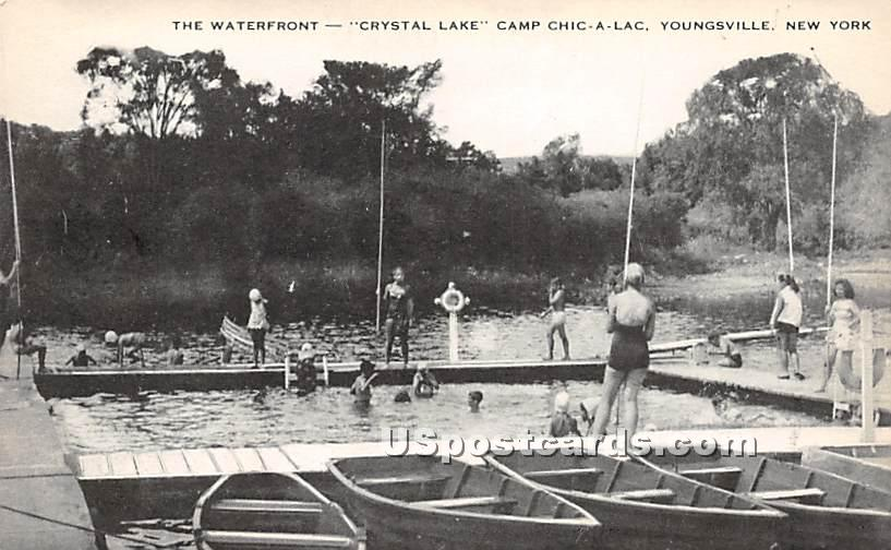 The Waterfront - Youngsville, New York NY Postcard
