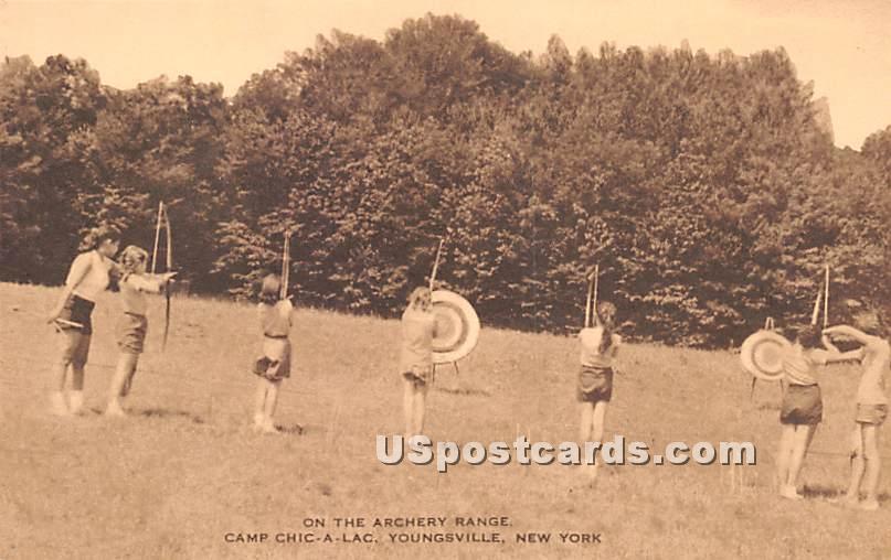 Archery Range - Youngsville, New York NY Postcard