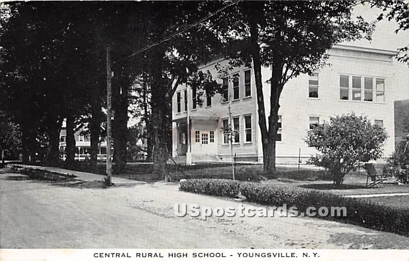 Central Rural High School - Youngsville, New York NY Postcard
