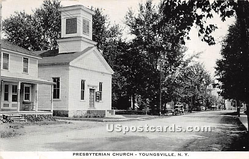 Presbyterian Church - Youngsville, New York NY Postcard