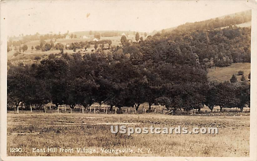 East Hill from Village - Youngsville, New York NY Postcard