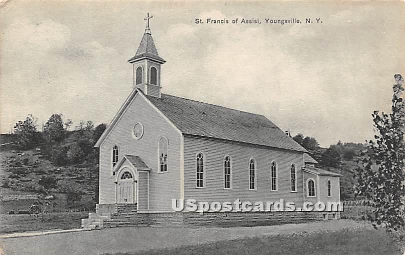 St Francis of Assisi - Youngsville, New York NY Postcard
