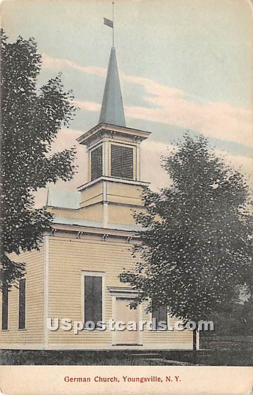 German Church - Youngsville, New York NY Postcard