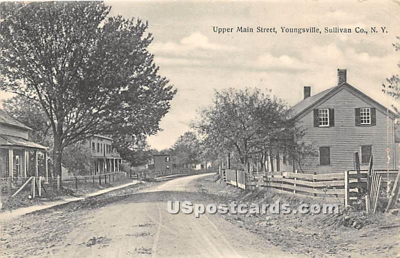 Upper Main Street - Youngsville, New York NY Postcard