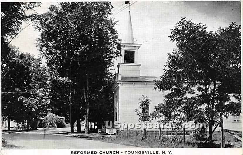 Reformed Church - Youngsville, New York NY Postcard