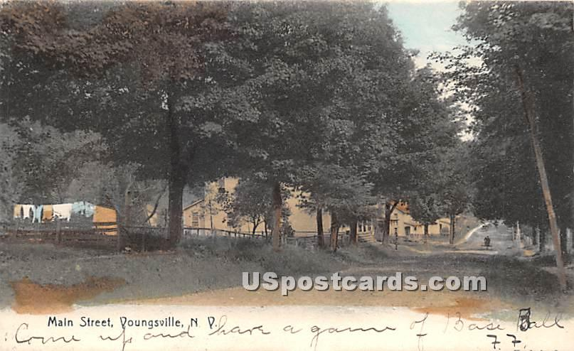 Main Street - Youngsville, New York NY Postcard