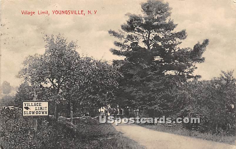 Village Limit - Youngsville, New York NY Postcard