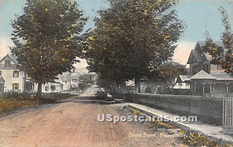Street Scene - Youngsville, New York NY Postcard
