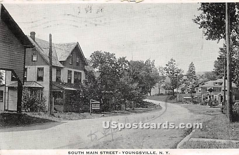 South Main Street - Youngsville, New York NY Postcard
