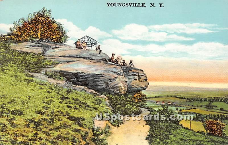 Birds Eye View - Youngsville, New York NY Postcard