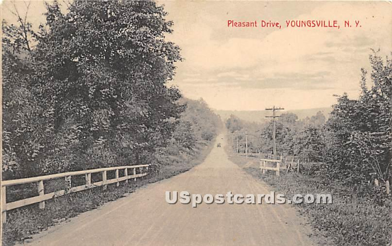 Pleasant Drive - Youngsville, New York NY Postcard