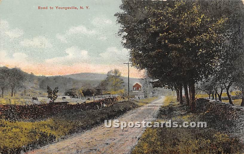 Road to Youngsville - New York NY Postcard