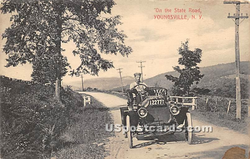 On the State Road - Youngsville, New York NY Postcard