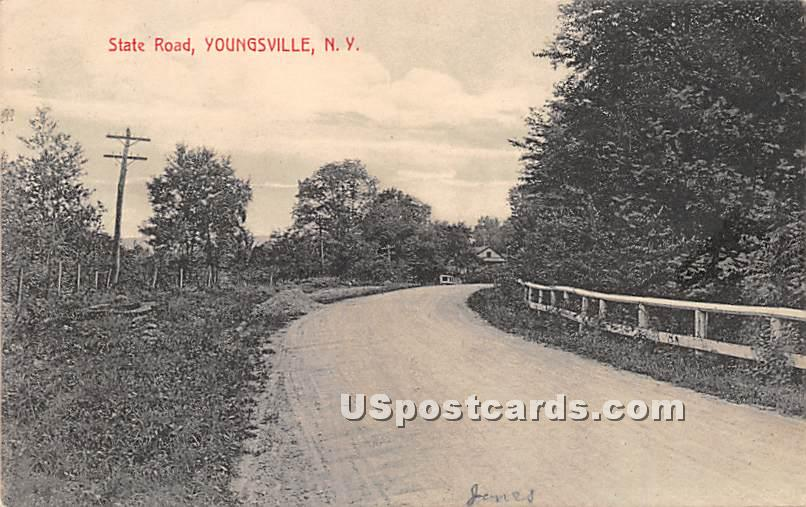State Road - Youngsville, New York NY Postcard