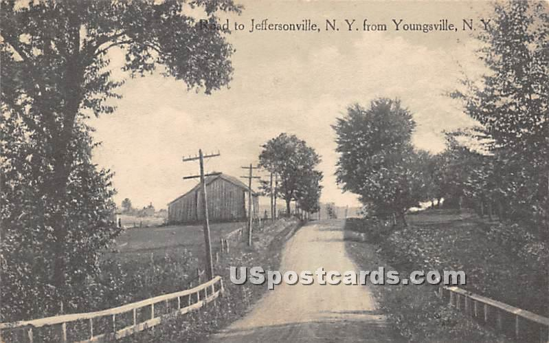 Road to Jeffersonville - Youngsville, New York NY Postcard