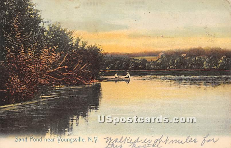 Sand Pond - Youngsville, New York NY Postcard