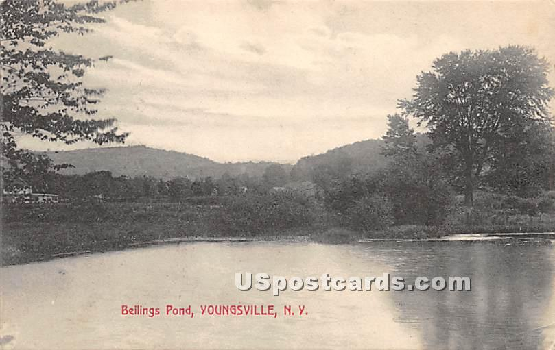 Beilings Pond - Youngsville, New York NY Postcard