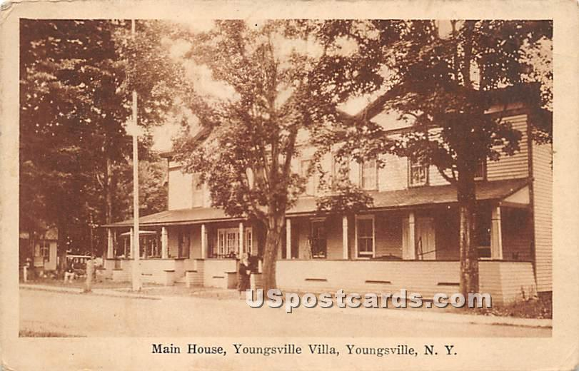 Main House - Youngsville, New York NY Postcard