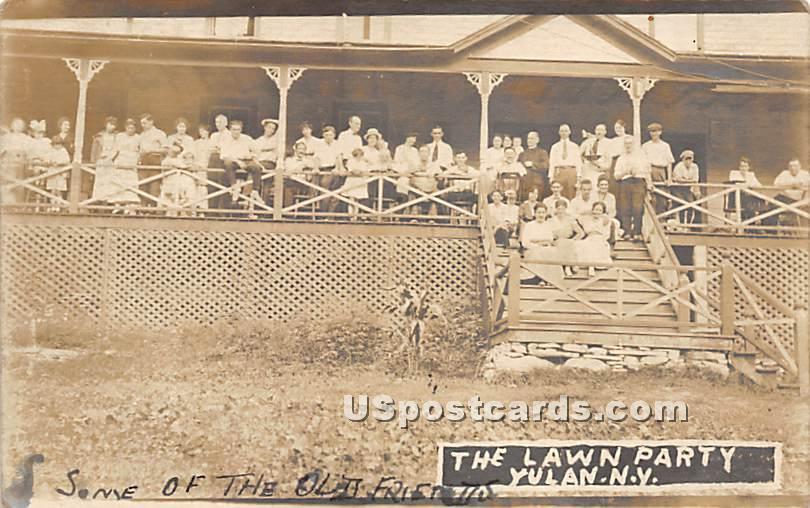 The Lawn Party - Yulan, New York NY Postcard