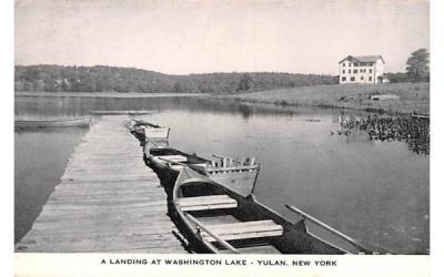 Landing at Washington Lake Yulan, New York Postcard