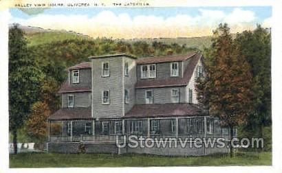 Valley View House - Oliverea, New York NY Postcard