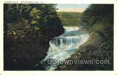 Lower Falls - Letchworth Park, New York NY Postcard