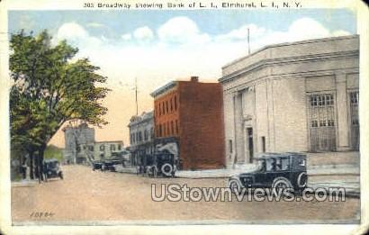 Bank of L.I. - Elmhurst, New York NY Postcard