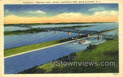 Roosevelt International Bridge - Massena, New York NY Postcard