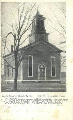 Baptist Church  - Moriah, New York NY Postcard