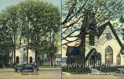 Baptist Church  - Arcade, New York NY Postcard