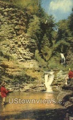Deckertown Creek - Montour Falls, New York NY Postcard