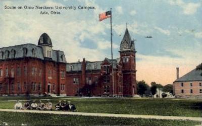Ohio Northern University Campus - Ada Postcard