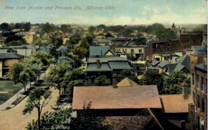 Market and Freedom Sts. - Alliance, Ohio OH Postcard