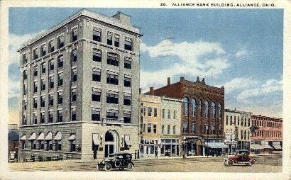 Alliance Bank Building - Ohio OH Postcard