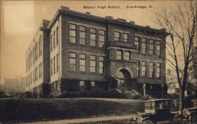 Brown High School - Cambridge, Ohio OH Postcard